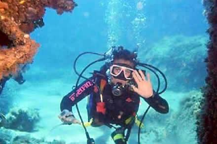 Capo enfola immersione sub